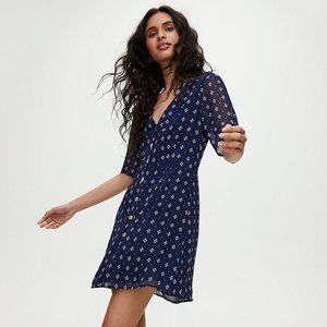 Aritzia Wilfred Button-Front Dress, Short-sleeve